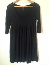 H&M Size M Empire Line Scoop Neck 3/4 Sleeve Stretch Dress Black  BC573