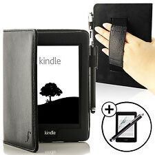 Leather Black Smart Case for Amazon Kindle Paperwhite 2015 + Screen Prot Stylus