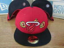 Miami Heat NBA New Era Hat Championship Rings Size 7 1/8 Brand New Red Black