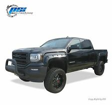 BLACK PAINTABLE Pocket Rivet Bolt Fender Flares 2016 GMC Sierra 1500 FULL SET
