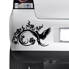 3x Floral Decorative Bird Car Bumper Van Window Wall Laptop VINYL DECAL STICKERS