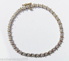 10ct Gold 0.50ct Diamond Tennis Bracelet, 7 1/4""