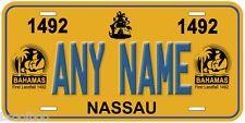 Bahamas 1492 Any Name Novelty Car Auto License Plate P02