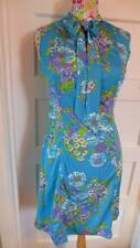 Vintage 1960s St Michael flower power pussy bow dress size 12 UK floral