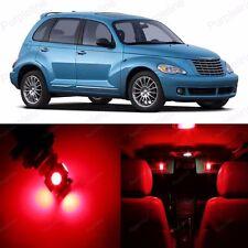 8 x Super Red LED Interior Light Package For Chrysler PT Cruiser 2001 - 2010