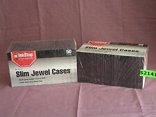 100 BLACK SLIM JEWEL CASES FOR CD OR DVD * NEW *