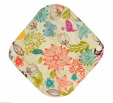 Cloth Menstrual Pads Bamboo Charcol Reusable Sanitary Panty Liner Flowers LIGHT