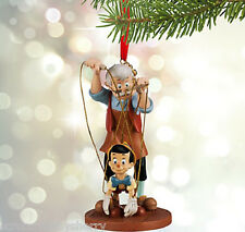 Disney Store Pinocchio and Geppetto Sketchbook Ornament New for 2015
