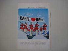 advertising Pubblicità 1968 CAFFE' HAG
