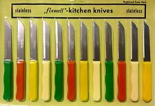 New Fixwell 12-Piece Stainless Steel Knife Set Made in Germany