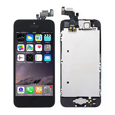 For iPhone 5 LCD Display Touch Screen Digitizer Frame Home Button Assembly MKGH