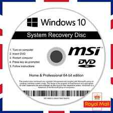 Msi Windows 10 Home & Professional Recovery Repair Install Boot Disc Software