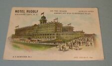 1909 Hotel Rudolph Atlantic City New Jersey Postcard American and European Plan