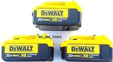 3 New Genuine Dewalt 20V DCB204 4.0 AH Lit-ion Batteries For Drill, Saw, 20 Volt