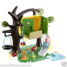 New Peppa Pig play treehouse playset toy & figure, tree house swing and slide