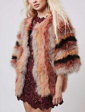 Topshop Marabou Feather Coat EU 38 $305