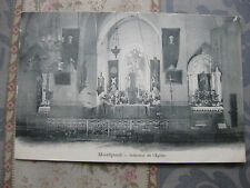 CPA Montpont Intérieur de l'église - Bresse Bourgogne