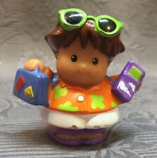 Fisher Price Little People Roberto Orange Hawaiian Shirt Sutcase