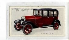 (Jb4233-100)  LAMBERT & BUTLER,MOTOR CARS A SERIES GREEN,CROSSLEY,1922#4