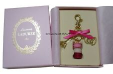 Auth New LADUREE Keychain Ring Macaron Eiffel Tower Charm Pink Gift Box MARK'S