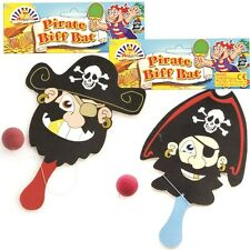 24 Pirate Wooden Biff Bats. Bulk Buy Wholesale Pocket Money Toys for Party Bags