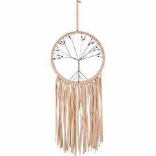 Tree of Life Tan Tassle Beaded Dreamcatcher Wall Hanging for Kids / Adults Room