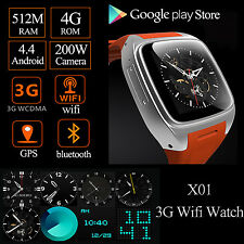 US 3G Wifi GPS WCDMA GSM 4GB Android Smart watch Phone Google Play Store Install