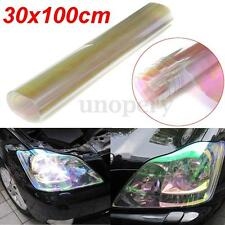 30 x 100cm Chameleon Light Car Van Headlight Rear Lamp Tinting Film Roll Clear