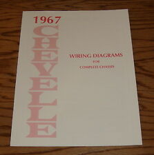 1967 Chevrolet Chevelle Wiring Diagrams for Complete Chassis 67