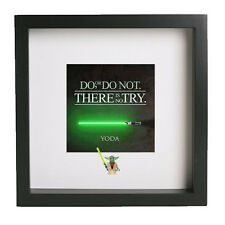 Yoda lego 3d frame do or do not there is no try star wars ideal present gift