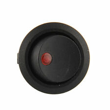 Red LED Dot Illuminated Round Rocker Switch 19mm Toggle Car Truck Trailer