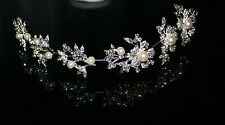 Bridal Hair Accessories Art Pearl Crystals Wedding Communion Headdress Type 3