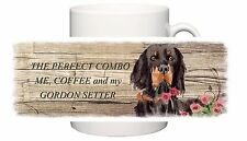 GORDON SETTER DOG CERAMIC MUG COMBO SANDRA COEN ARTIST WATERCOLOUR PRINT