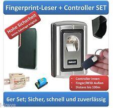 Zutrittskontrolle Komplettset Fingerprint & RFID, Netzteil, Wetterschutz, Relais