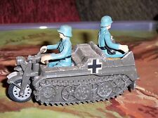 Britains Deetail German Kettenkrad Vehicle with two German Soldiers made England