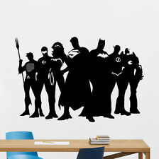 Superheroes Wall Decal Batman Superman Flash Vinyl Sticker Decor Mural 111zzz