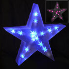 Holographic LED Star Light Up Christmas Decoration Battery 40cm Indoor Blue Pink