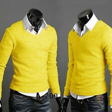 Fashion Mens Slim Knitted Sweater Casual Jumper Cardigan Pullover Tops Knitwear