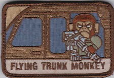 FLYING TRUNK MONKEY morale patch Desert Tan full hook backing