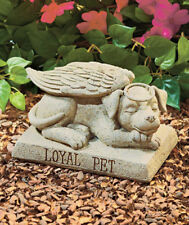 DURABLE RESIN OUTDOOR PET MEMORIAL ~ DOG ANGEL For Your Loyal Pet DS