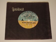"OLIVIA NEWTON JOHN - 7"" SINGLE - DON'T CRY FOR ME ARGENTINA - RARE AUSSIE"