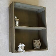 Shabby Chic Wall Unit Crate Shelf Storage Display Cabinet Kitchen Bathroom