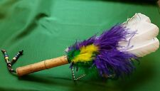 Goose feather smudging fan Native American spiritual energy aura cleansing