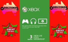 3 Month Xbox Live Gold Membership Code (Xbox One & Xbox 360) AU STOCK