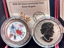 Snow Angels 2016 50 Cent Canada Lenticular 3D Coin: Magic Winter Holiday.