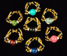Sundance Glass Bead Fashion Ring From Calypso Studios ~ Wholesale Lot of 84 Pcs