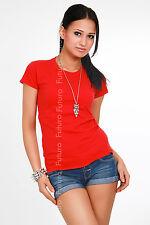 Classic Natural Cotton T-Shirt Hot Summer Colors Plain Size UK 8-18 FK2040
