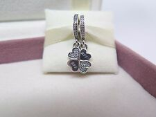 New w/Box & Tags Pandora 2 Pc Best Friends Forever Dangle Charm #791949CZ