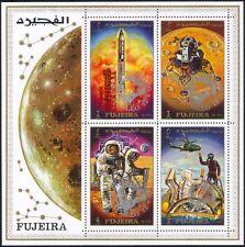 """Fujeira 1970 Space/Moon/Astronaut/Helicopter/""""Apollo 13""""  silver o/p sht s5317o"""
