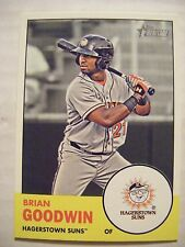 BRIAN GOODWIN 2012 Topps Heritage Minors baseball card NATIONALS ROCKY MOUNT NC